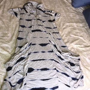 EUC KENSIE TIE-DYE ZIP NECK DRESS W/POCKETS!! SZ S